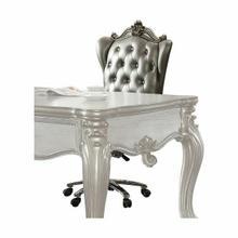 ACME Versailles Executive Chair w/Swivel & Lift - 92822 - Silver PU & Antique Platinum