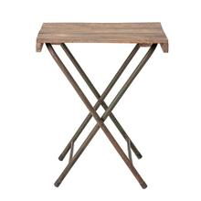 """Product Image - Approx. 25""""L x 20""""W x 28""""H Found Wood Folding Table with Metal Legs, KD (Each Varies)"""
