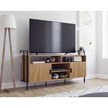 Wall-mounted Credenza TV Stand with Doors