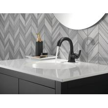 Matte Black Single Handle Centerset Pull-Down Bathroom Faucet