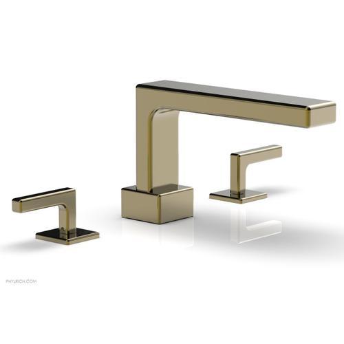 MIX Deck Tub Set - Lever Handles 290-41 - Antique Brass