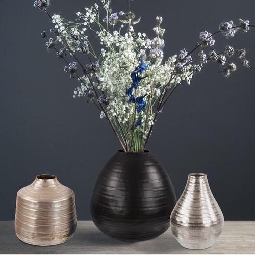 Howard Elliott - Chiseled Silver Bell Vase, Large