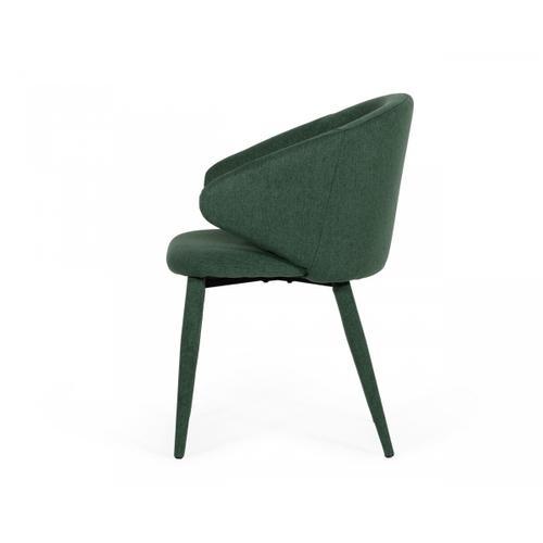 Gallery - Modrest Keller - Modern Green Dining Chair (Set of 2)
