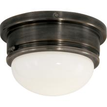 E. F. Chapman Marine 1 Light 8 inch Bronze Flush Mount Ceiling Light