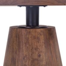 "Industrial Modern 54"" Round Dining Table Tawny Brown"