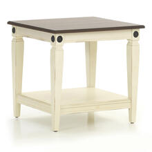 Glennwood End Table  White & Charcoal