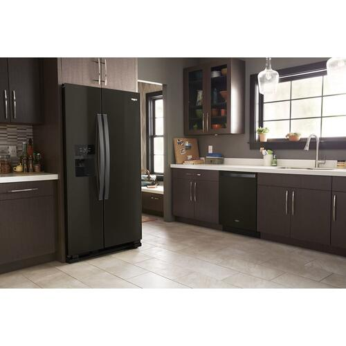 Whirlpool 33-inch Wide Side-by-Side Refrigerator - 21 cu. ft.  (This is a Stock Photo, actual unit (s) appearance may contain cosmetic blemishes. Please call store if you would like actual pictures). This unit carries our 6 month warranty, MANUFACTURER WARRANTY and REBATE NOT VALID with this item. ISI