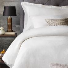 See Details - French Linen Duvet Set Queen White