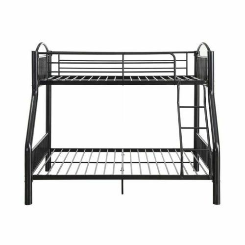 ACME Cayelynn Twin/Full Bunk Bed - 37380BK - Black