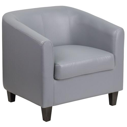 Gray Leather Lounge Chair