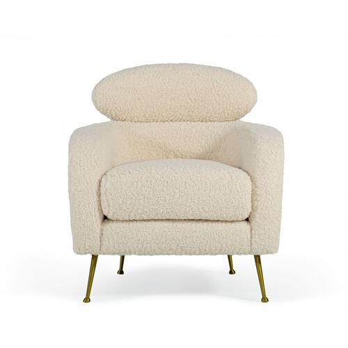 Gallery - Modrest Altura - Modern Faux Fur Lounge Chair
