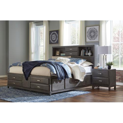Caitbrook - Gray 3 Piece Bed (King)