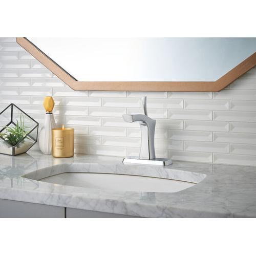 Chrome Single Handle Bathroom Faucet - Less Pop Up
