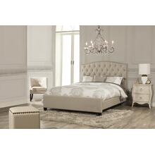 Lila King Bed - Sandstone Linen