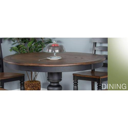 Bourbon County Dual Height Round Table