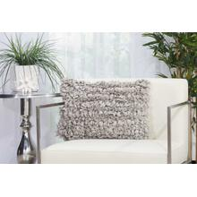 "Shag Dl658 Grey 14"" X 20"" Throw Pillow"