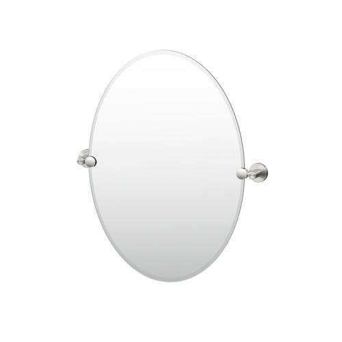 Reveal Oval Mirror in Satin Nickel
