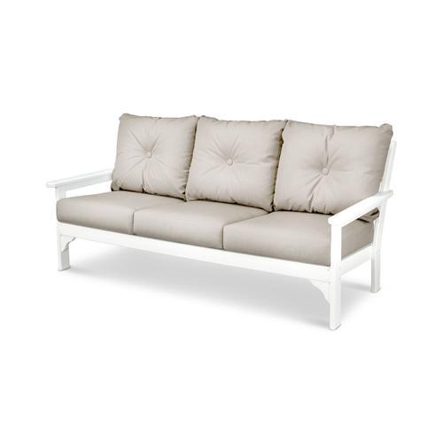 White & Cast Ash Vineyard Deep Seating Sofa