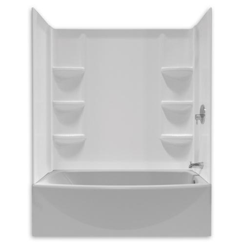 American Standard - Saver 60 Inch Tub Wall Set - Arctic White