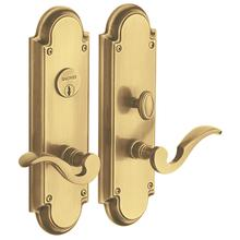 Satin Brass and Brown Stanford Entrance Set
