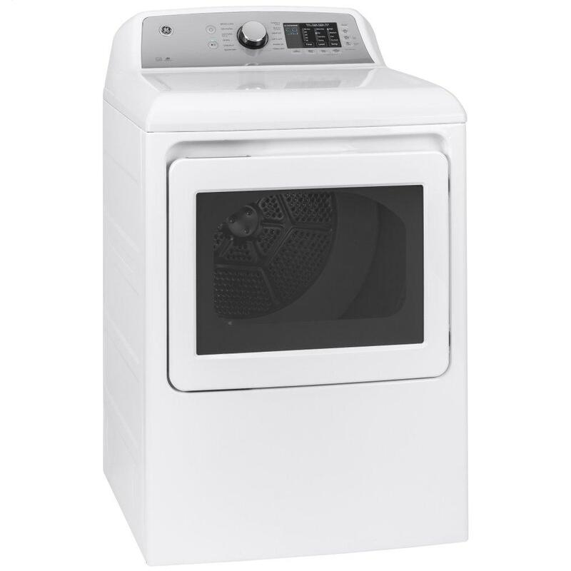 GE® 7.4 cu. ft. Capacity aluminized alloy drum Electric Dryer with Sanitize Cycle and Sensor Dry