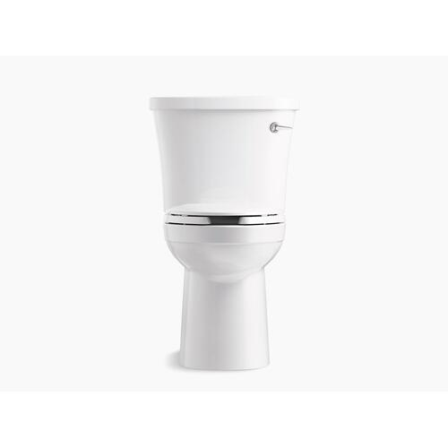 White Two-piece Elongated 1.28 Gpf Toilet With Class Five Flushing Technology, Right-hand Trip Lever and Antimicrobial Finish, Seat Not Included