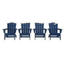 View Product - Wave Collection 4-Piece Adirondack Chair Set in Navy