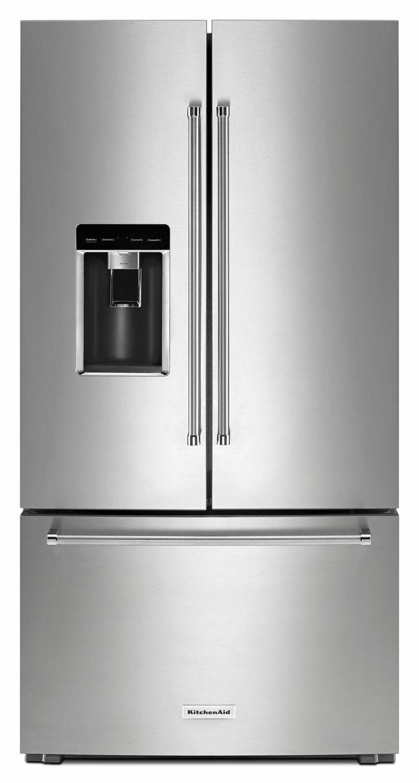 """Kitchenaid23.8 Cu. Ft. 36"""" Counter-Depth French Door Platinum Interior Refrigerator With Printshield™ Finish - Stainless Steel With Printshield™ Finish"""