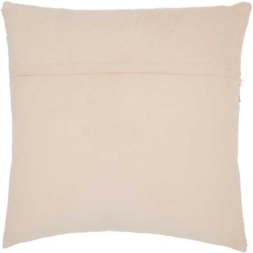 """Natural Leather Hide S4292 Rose 20"""" X 20"""" Throw Pillow"""