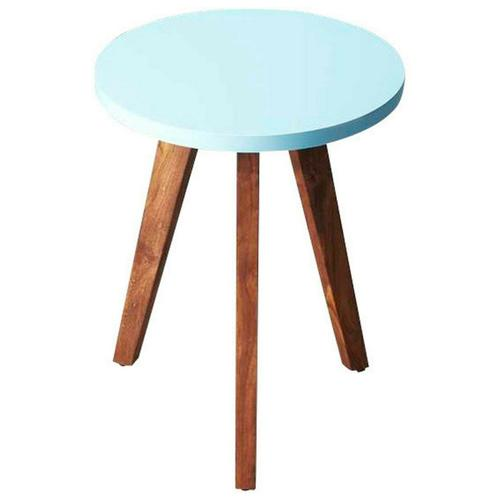 Butler Specialty Company - The Oceanside bunching table will add a touch of contemporary style to your room. The three acacia wood legs support a round, sky blue table top. Perfect next to a couch or chair, you can set down your drink or display a family photo.