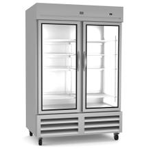See Details - Refrigeration Equipment Reach-In Refrigerator, 2 Glass Doors, 49 cu.ft - Stainless Steel (R290)