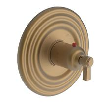 "Satin Bronze - PVD 3/4"" Round Thermostatic Trim Plate with Handle"