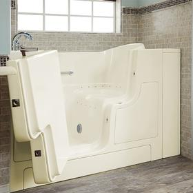Gelcoat Value Series 30x52-inch Walk-In Bathtub with Air Spa System  American Standard - Linen