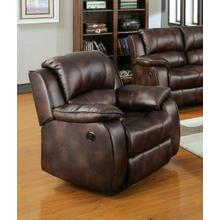 ACME Zanthe Recliner - 50512 - Brown Polished Microfiber