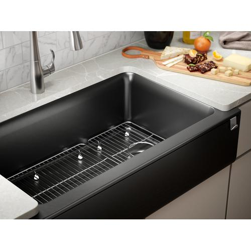 Matte White Undermount Single-bowl Farmhouse Kitchen Sink