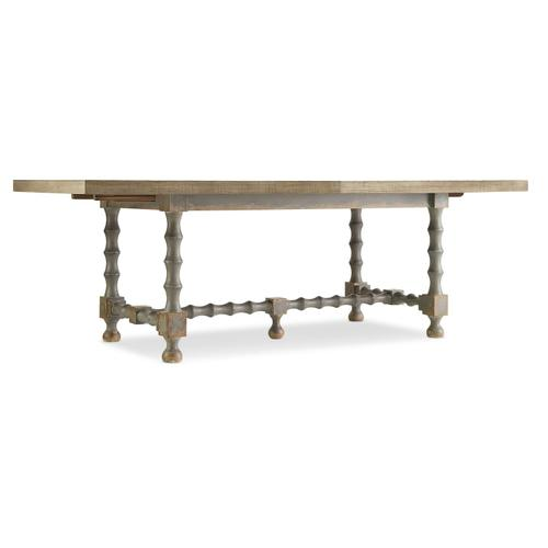 Dining Room Ciao Bella 84in Trestle Table w/ 2-18in Leaves-Natural/Gray