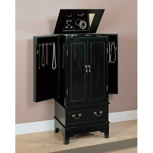 Coaster - Transitional Black Jewelry Armoire