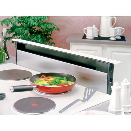 Broan® 36-Inch Downdraft Range Hood, 500 CFM, Stainless Steel Cover