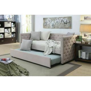 ACME Romona Daybed & Trundle, Beige Linen (1Set/2Ctn) - 39050
