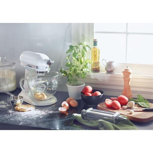 KitchenAid - Artisan® Mini Design Series 3.5 Quart Tilt-Head Stand Mixer Frosted Pearl White