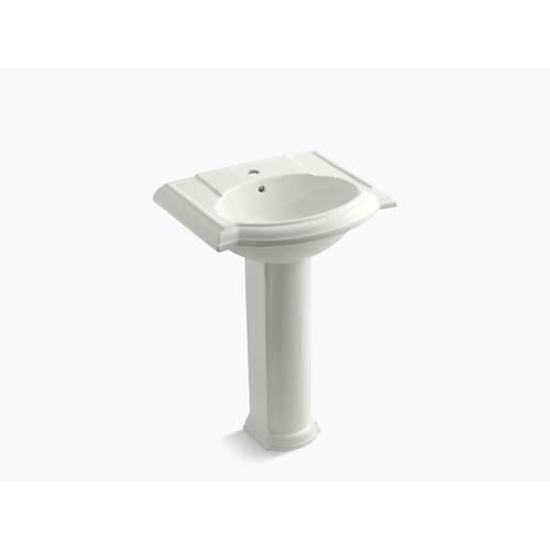 "Dune 24"" Pedestal Bathroom Sink With Single Faucet Hole"