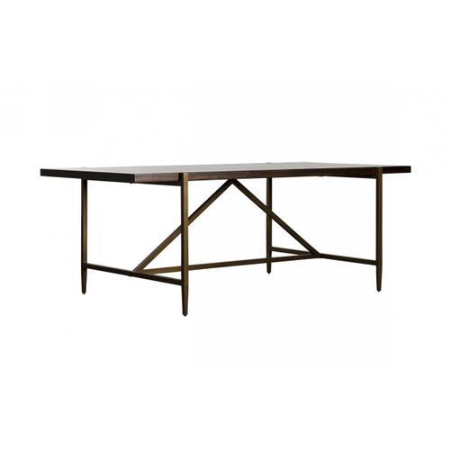 VIG Furniture - Modrest Shane - Modern Acacia & Brass Dining Table