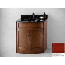 """See Details - Marcello 30"""" Bathroom Vanity Cabinet Base in Colonial Cherry"""