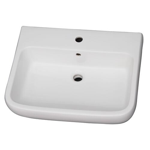 Metropolitan 600 Pedestal Lavatory - Single-Hole