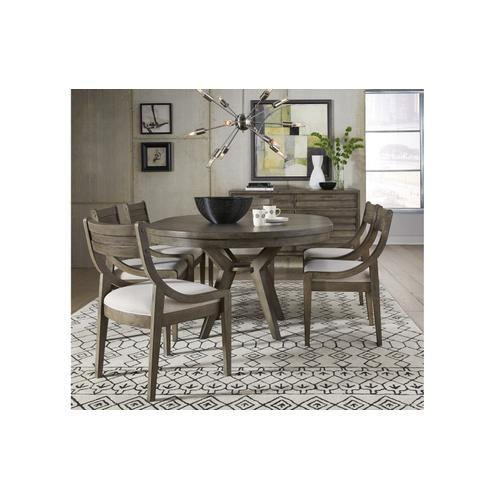 Greystone Round to Oval Pedestal Table