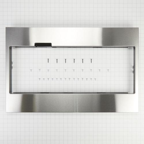 Whirlpool - Built-In Low Profile Microwave Standard Trim Kit with Pocket Handle, Stainless Steel