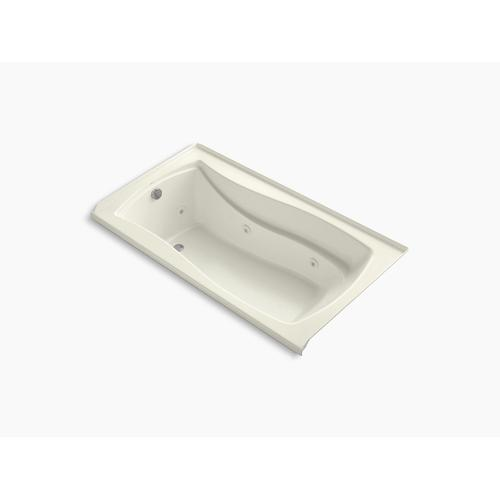 "Biscuit 66"" X 36"" Alcove Whirlpool Bath With Bask Heated Surface, Integral Flange, and Left-hand Drain"