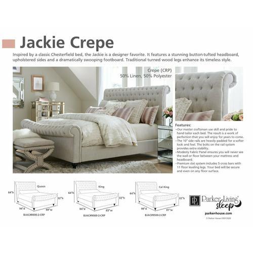 JACKIE - CREPE California King Footboard 6/0