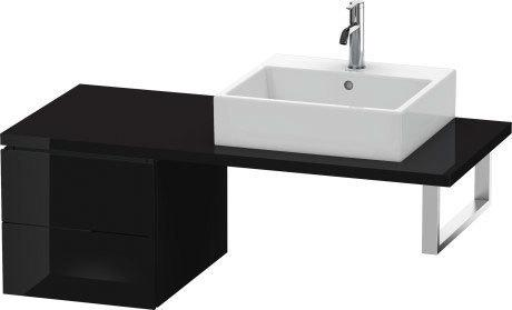 Low Cabinet For Console, Black High Gloss (lacquer)