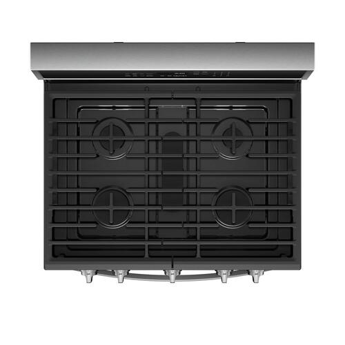 Whirlpool Canada - 5.8 Cu. Ft. Smart Freestanding Gas Range with EZ-2-Lift™ Grates